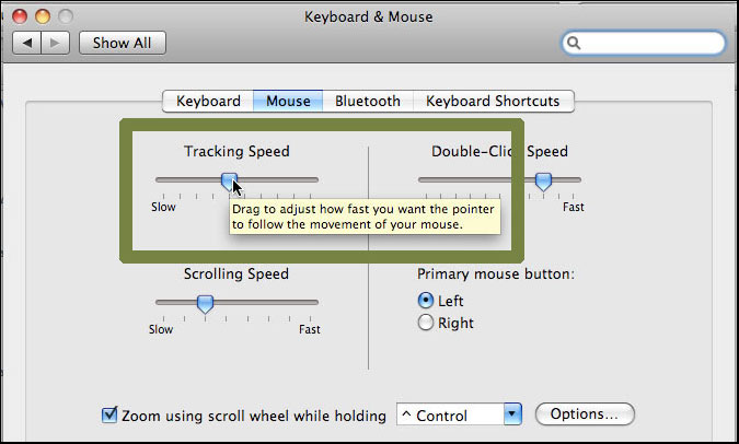 Mouse: Ponter Speed (OSX)