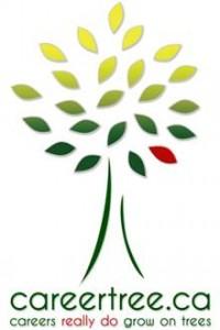 """careertree.ca: """"careers really do grow on trees"""" slogan with CareerTree tree logo"""